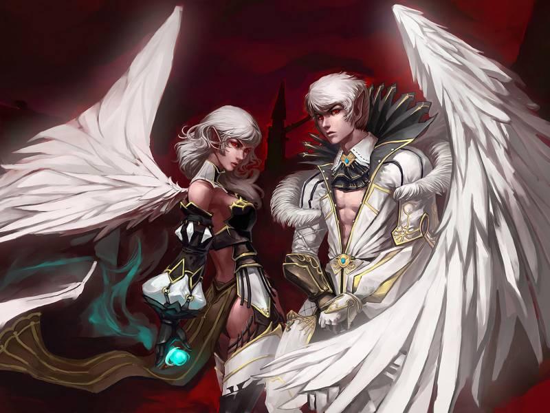 Девушка воин парень маг принц ангел