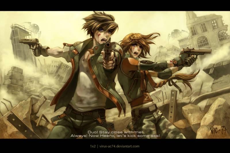 Парень девушка друзья воин кровь
