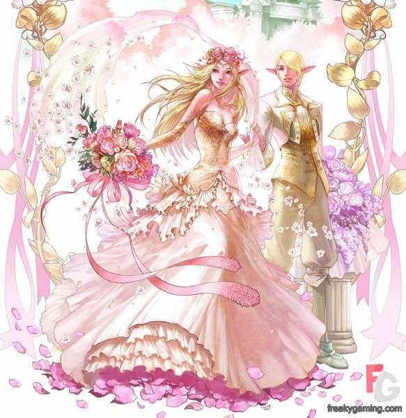 Девушка эльф любовь свадьба цветы
