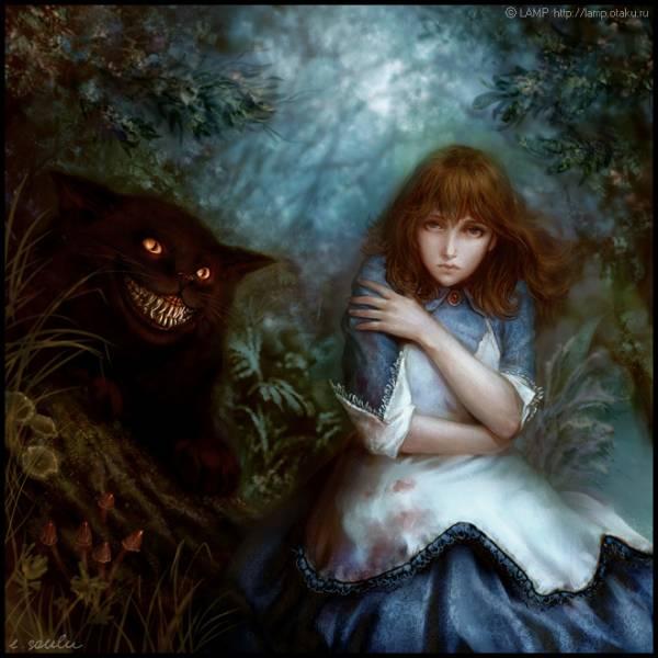 Алиса чеширский кот кровь ужас